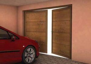 Dvokrilna garažna vrata Lomax